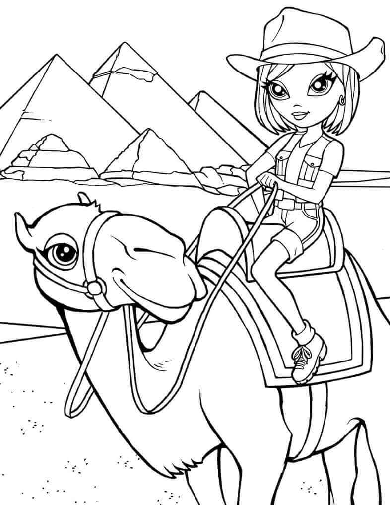 Lisa Frank Coloring Pages American Cowgirl