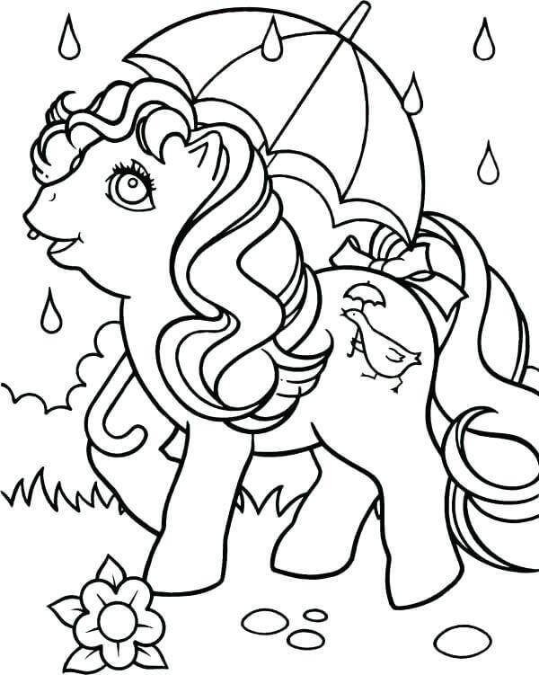 My Little Pony Rainy Season Coloring Pages
