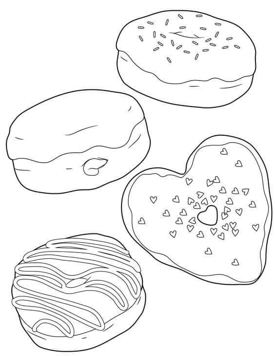 National Donut Day Coloring Pages