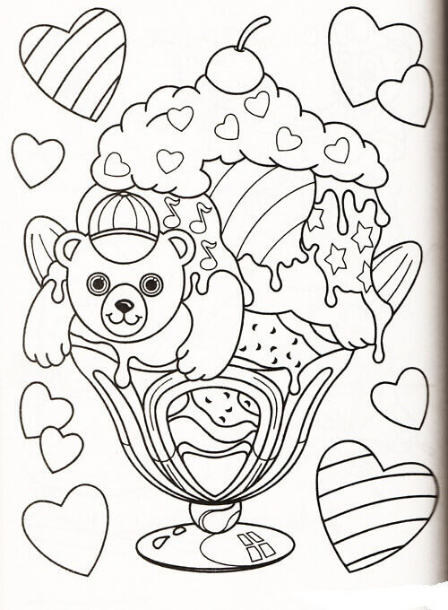 Panda Painter Lisa Frank Coloring Page
