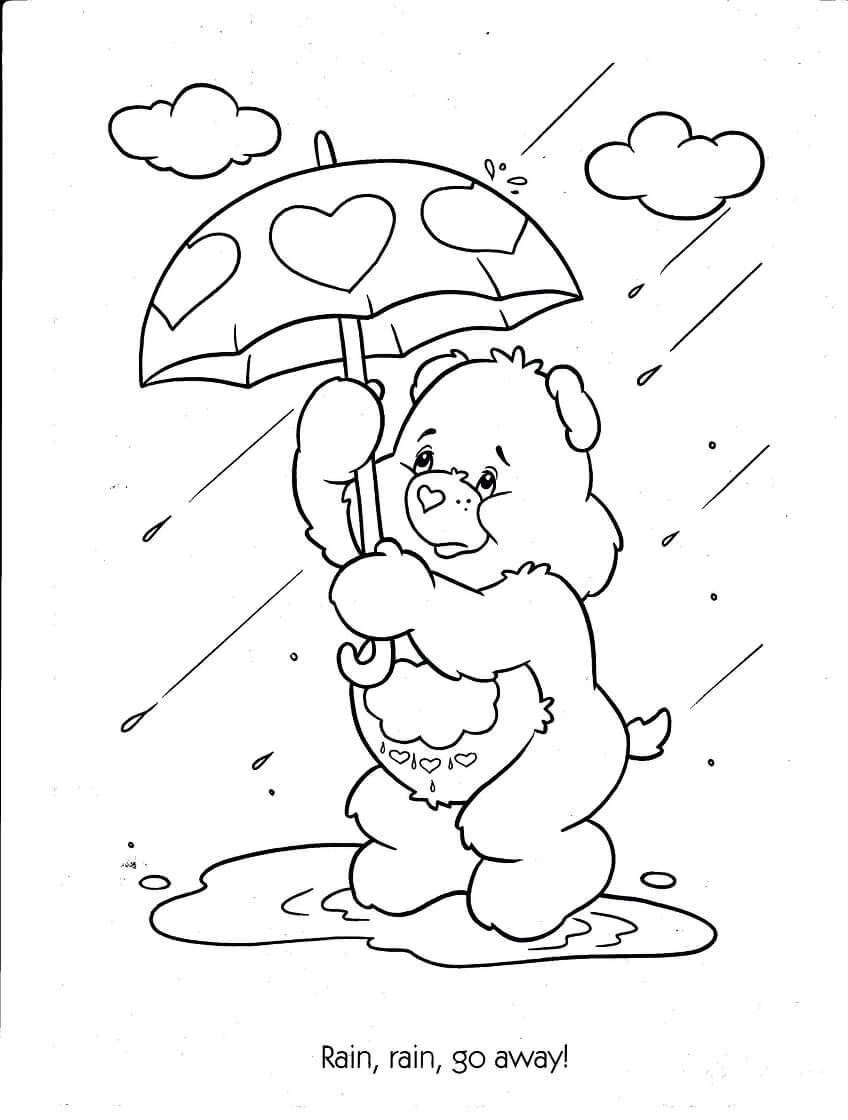 Rain Coloring Pages