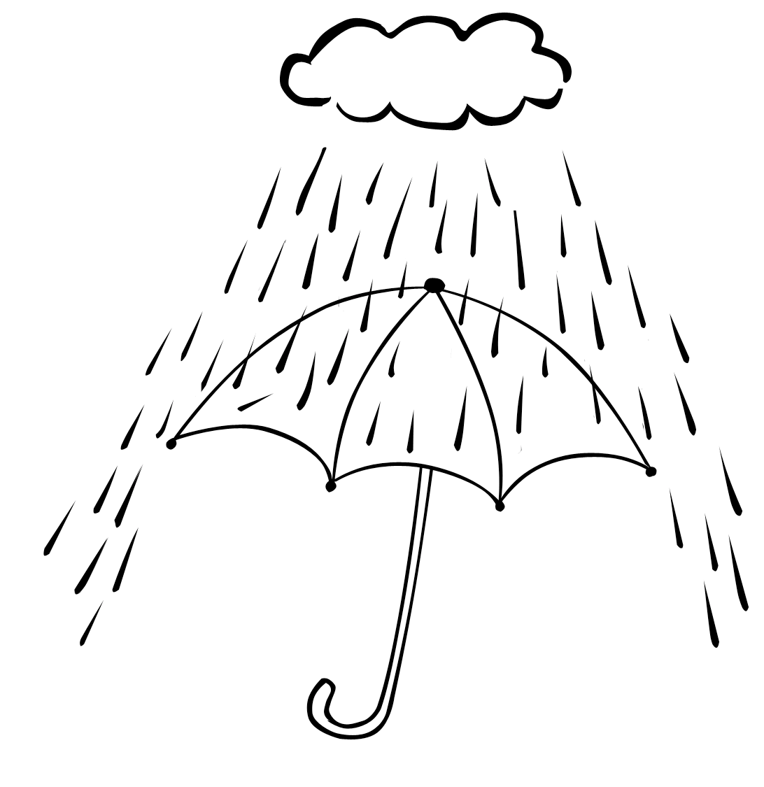 Rainfall Coloring Pages