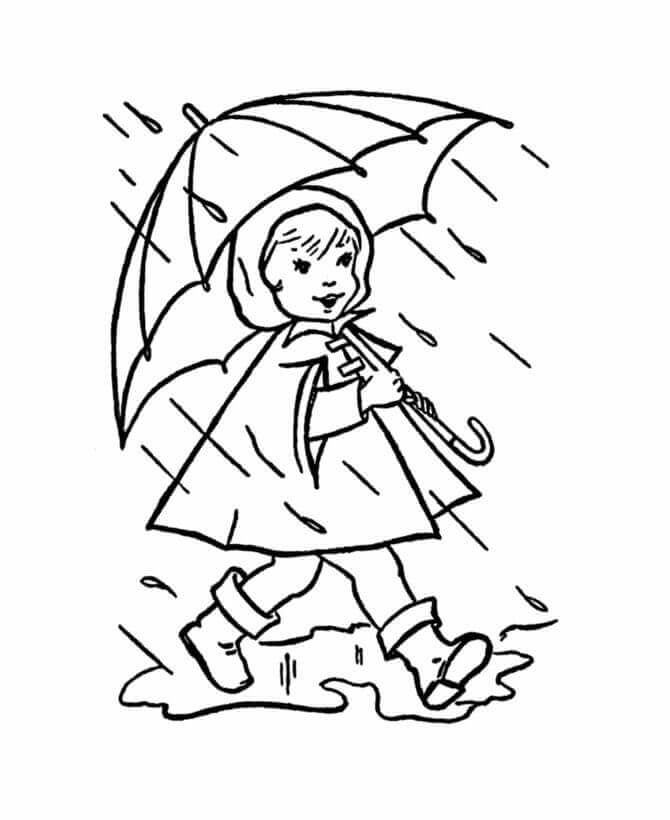 Rainy Day Coloring Pages For Toddlers