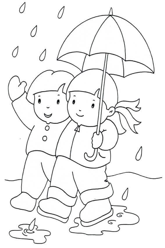 Rainy Day Coloring Sheets Free