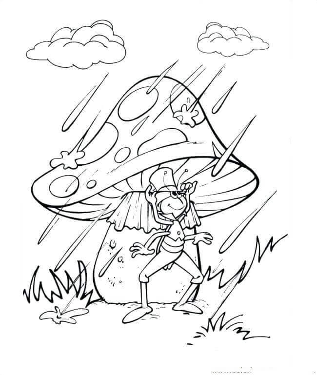 Rainy Day Coloring Sheets To Print
