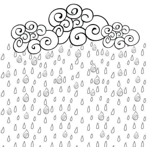 Rainy Season Coloring Sheets For Kids