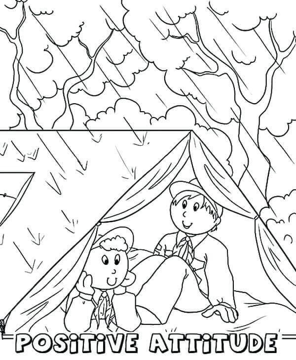 Rainy Season Coloring Sheets Printable