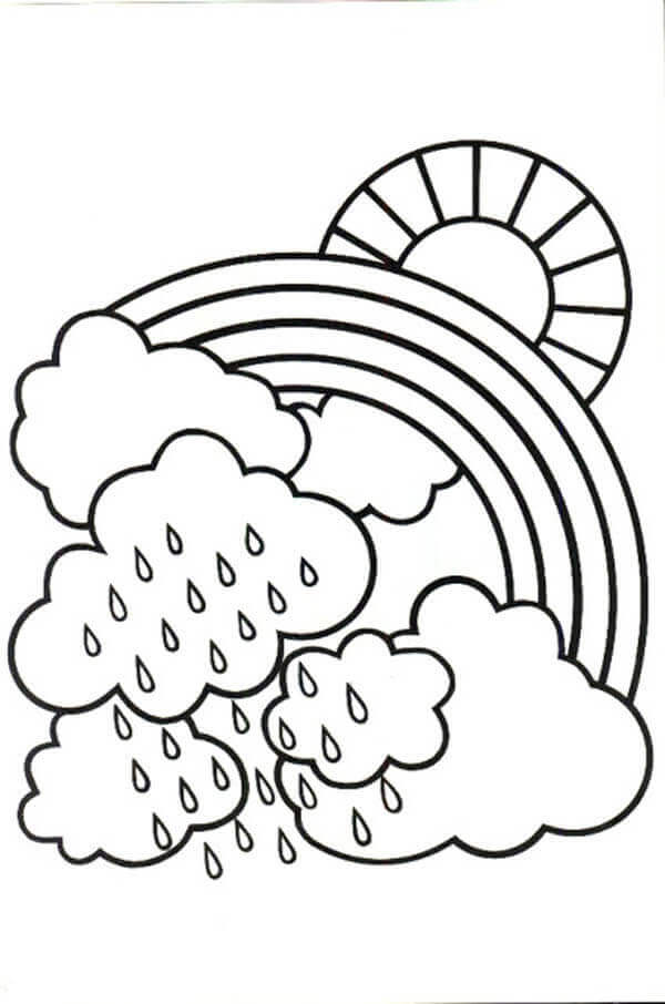 Rainy Weather Coloring Pages