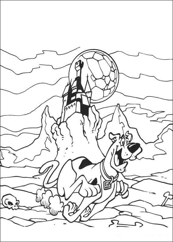 Scared Scooby Doo Coloring Page