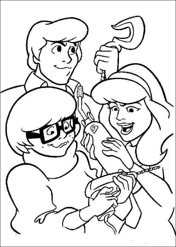 Scooby Doo Cartoon Series Coloring Pages Printable