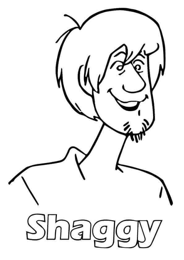 Scooby Doo Shaggy Coloring Pages