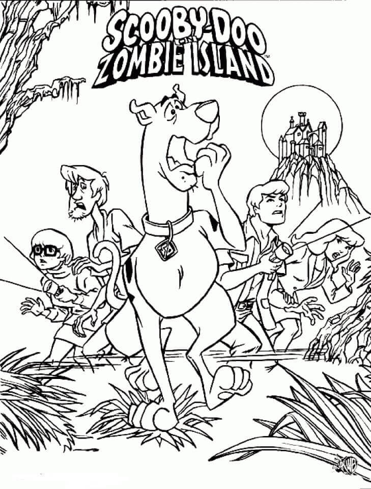 Scooby Doo Zombie Island Coloring Pages