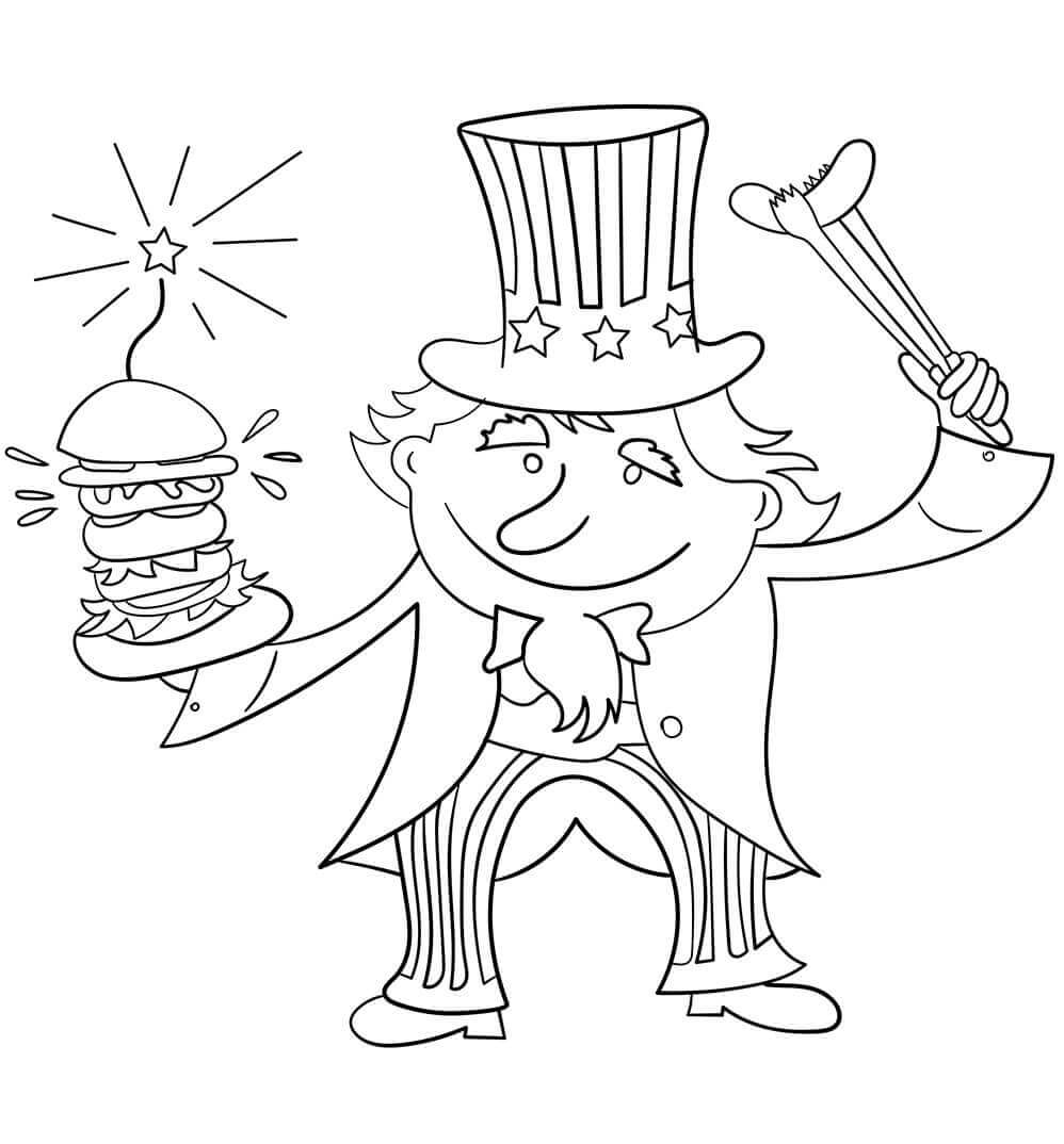 Uncle Sam Coloring Pages 4th Of July