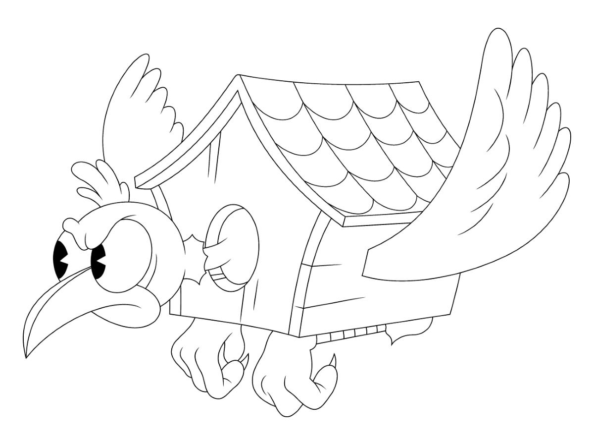 Wally Warbles From Cuphead Coloring Images