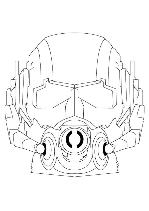 Ant Man Mask Coloring Page