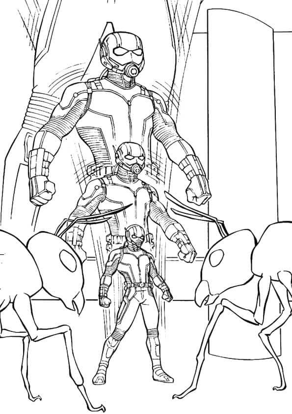 Ant Man Shrinking Coloring Page
