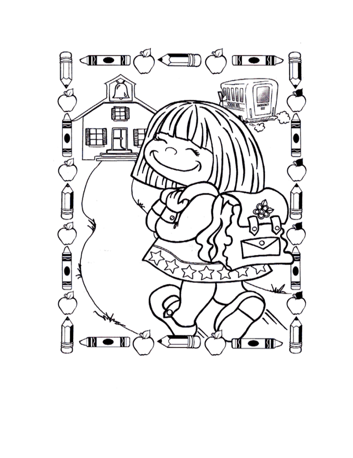 Back To School Coloring Pages To Print