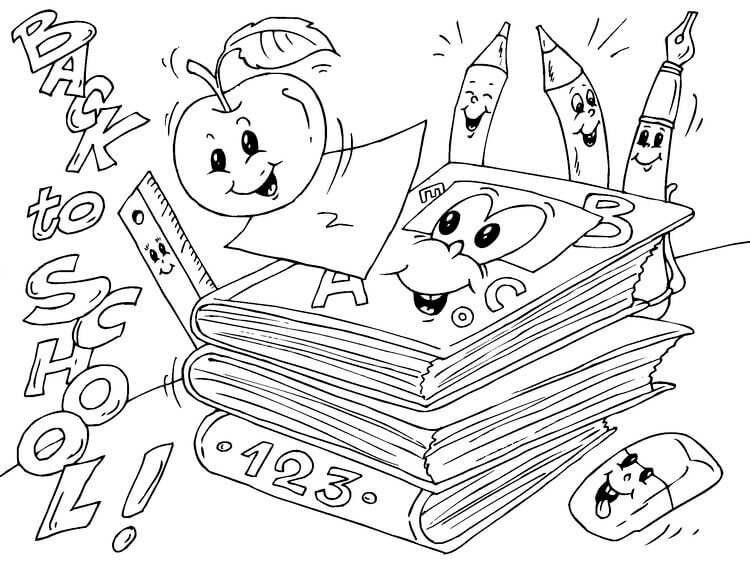 Back To School Coloring Sheets