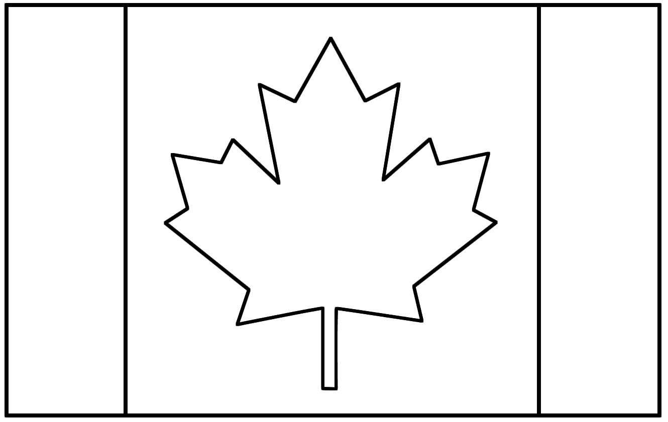 Canadian Flag Day Coloring Sheets