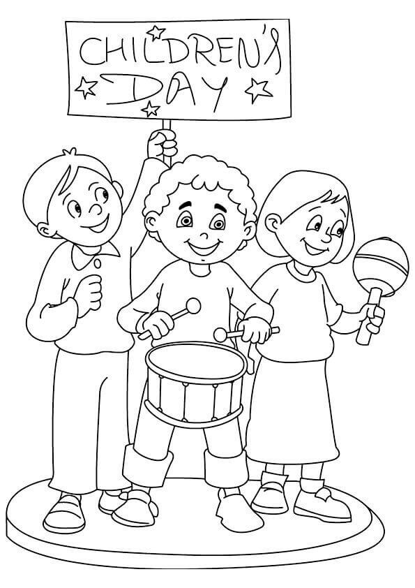 Childrens Day Coloring Pages To Print