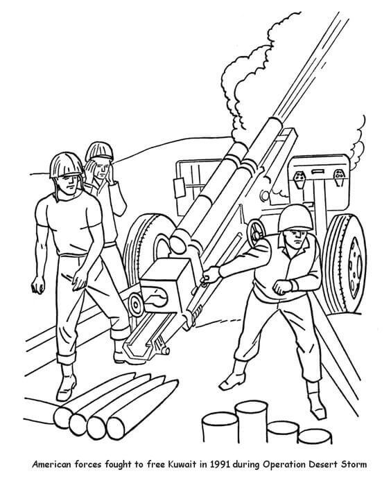 Coloring Pages Of Veterans Day