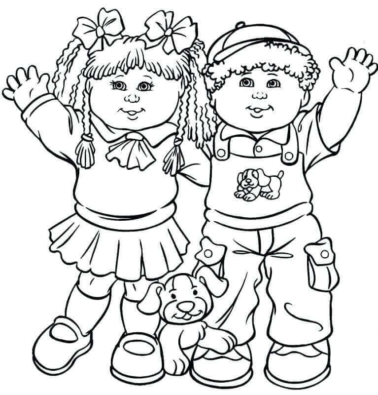 Cute Childrens Day Coloring Pages