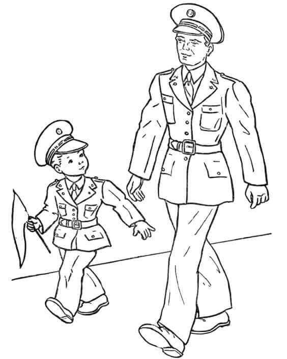 Cute Veterans Day Coloring Pages