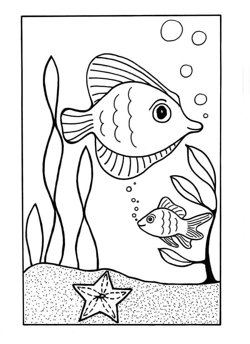 Free Printable Ocean Coloring Pages (Under The Sea Coloring Pages)