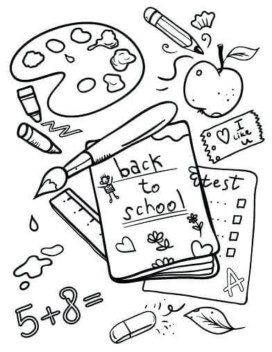 Free Printable Back To School Coloring Pictures