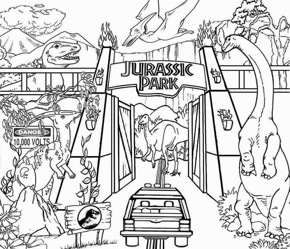 Printable Tree House Plans: Free Printable Jurassic World Coloring Pages