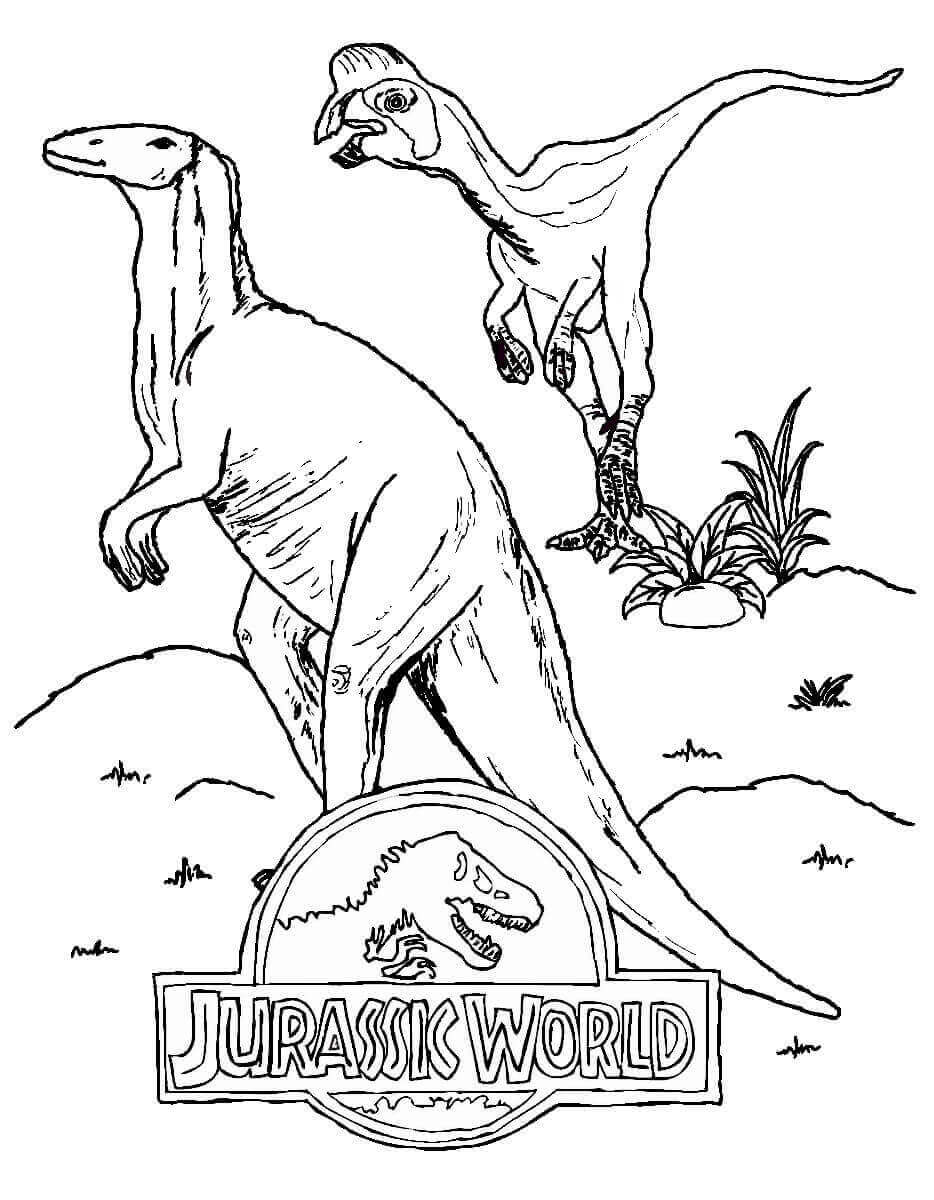 jurassic world echo coloring pages | Free Printable Jurassic World Coloring Pages