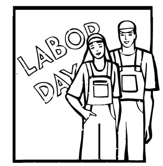 Free Printable Labor Day Coloring Page