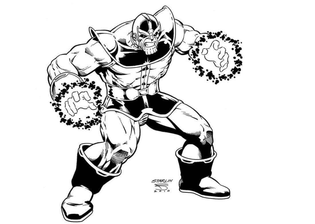 Free Printable Thanos Coloring Sheets