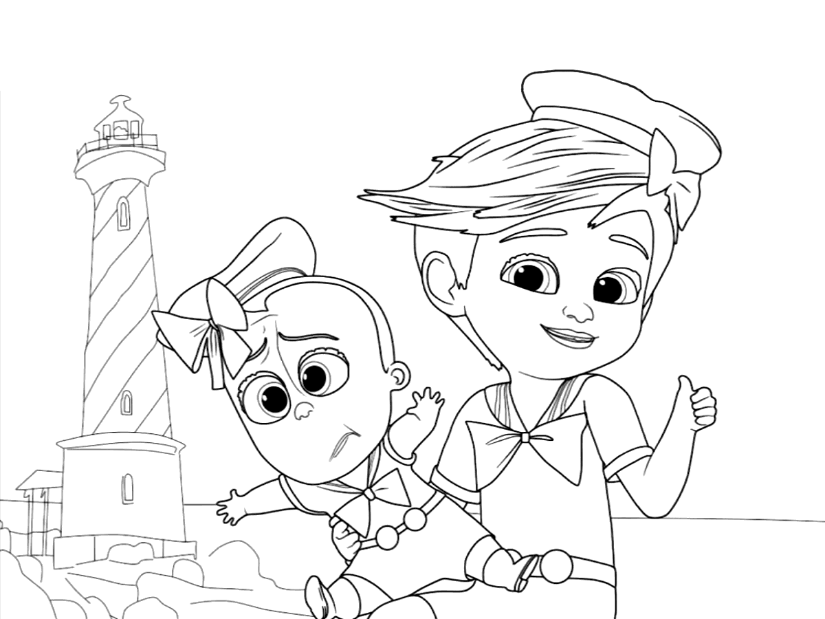 Free Printable The Boss Baby Back in Business Coloring Pages