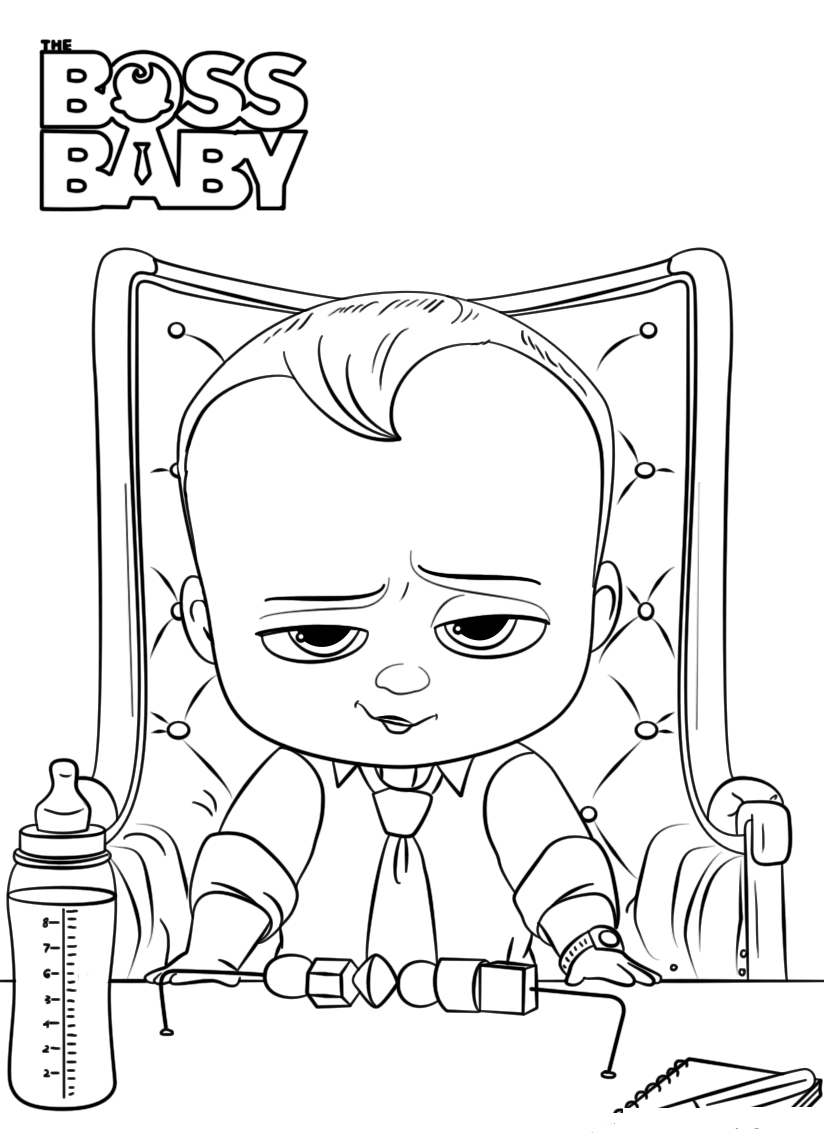 Free Printable The Boss Baby Coloring Pages