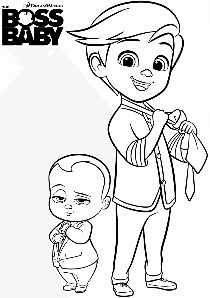 Free Printable The Boss Baby Coloring Sheets