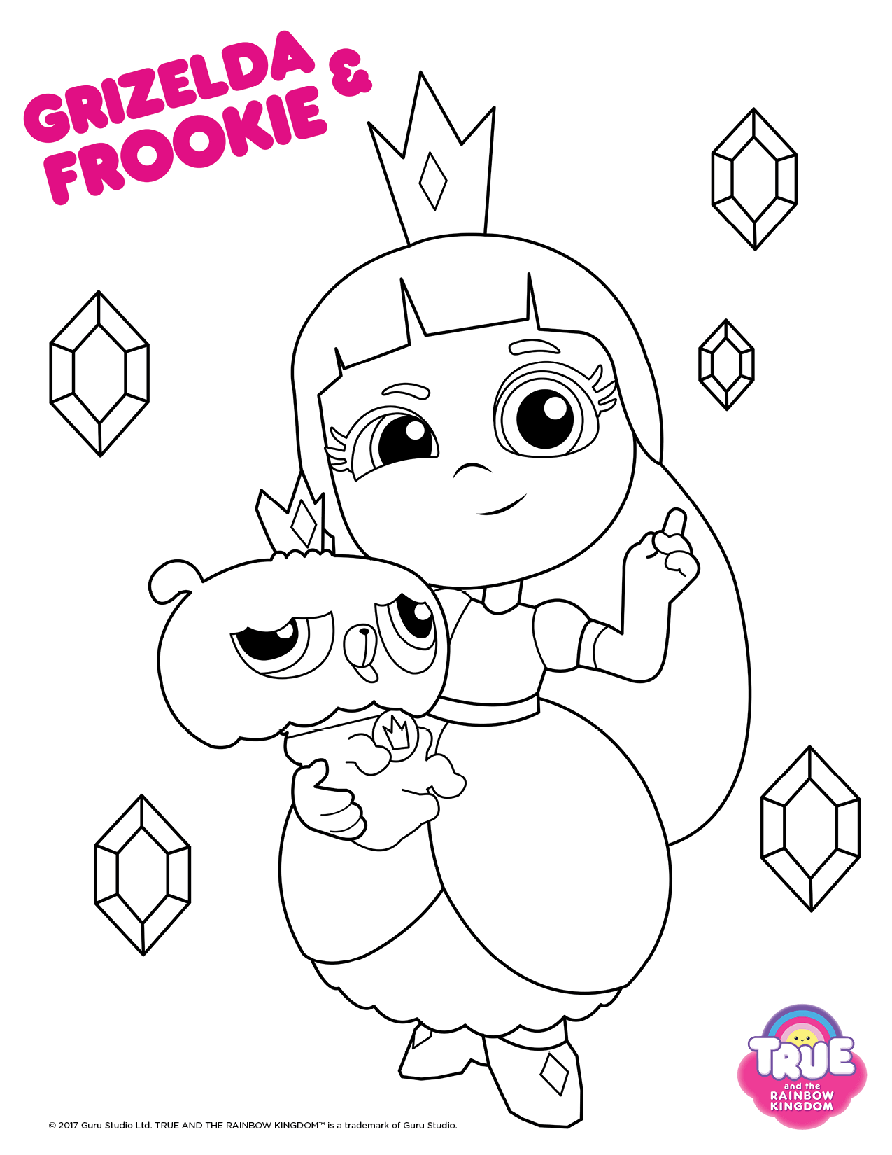 Grizelda and Frookie From True And The Rainbow King Coloring Pages