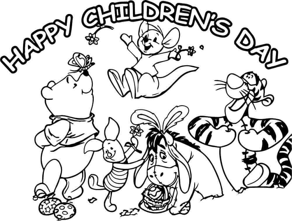 Happy Childrens Day Coloring Pages Printable
