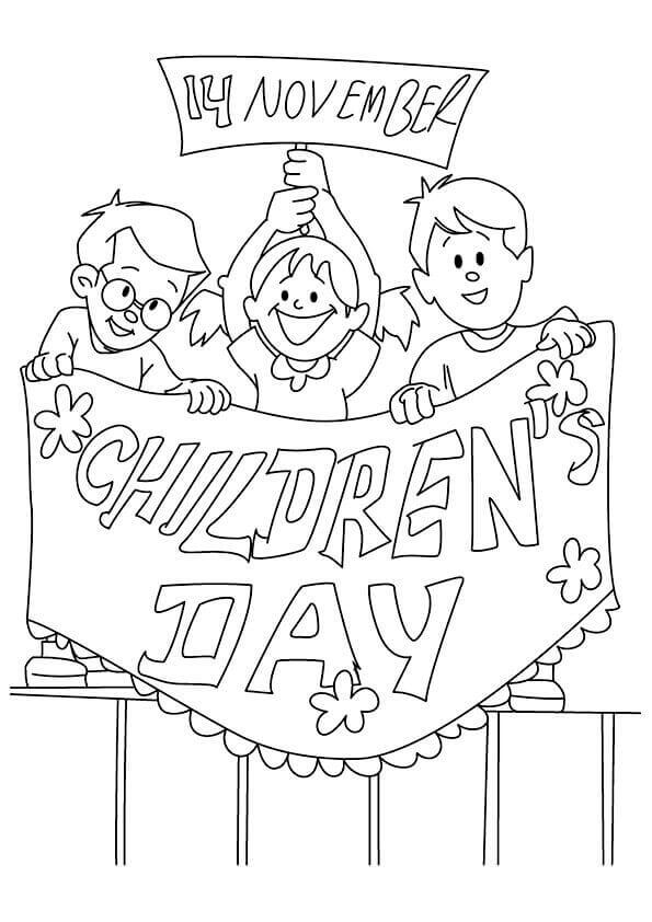Happy Childrens Day Coloring Pages