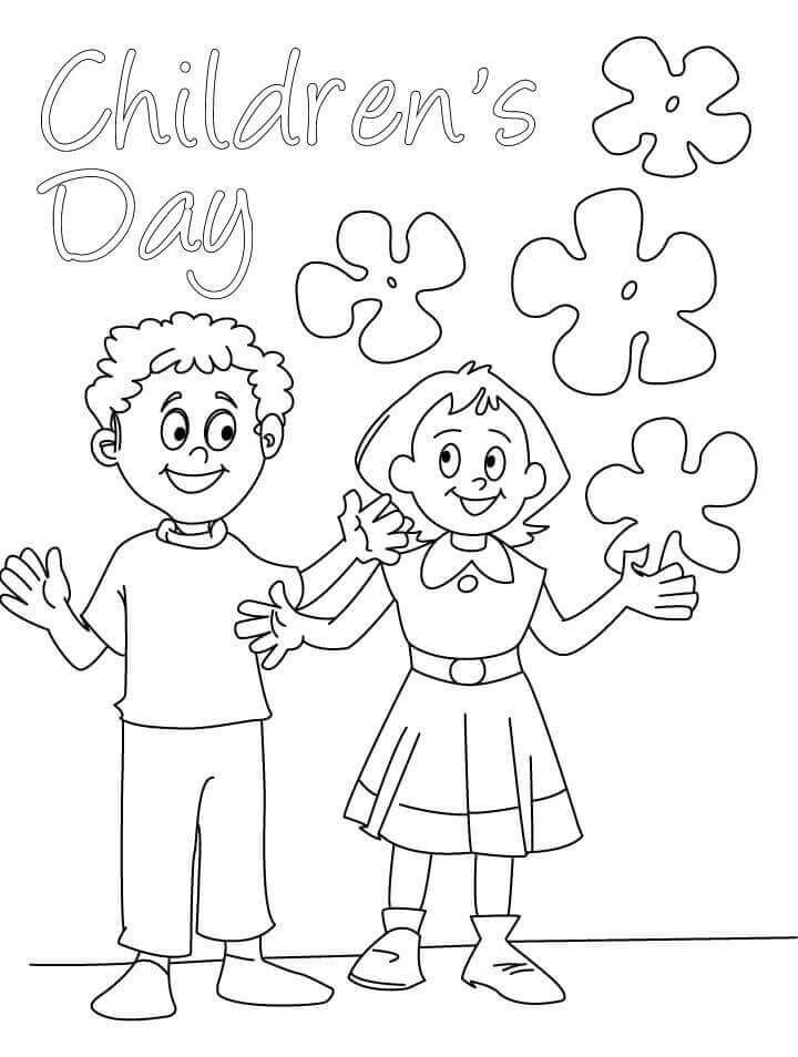 Happy Childrens Day Coloring Sheets Printable