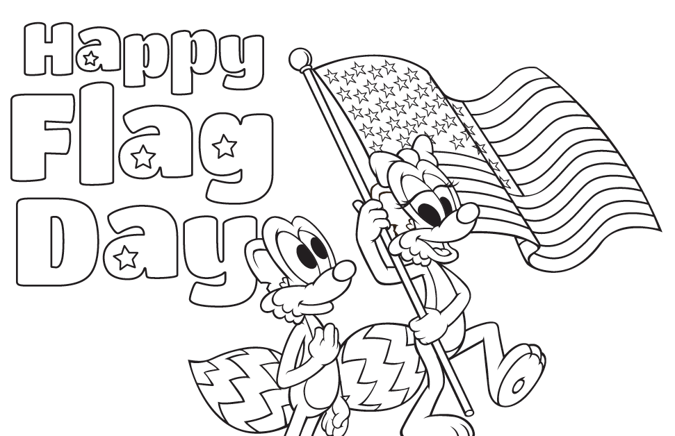 Happy Flag Day Coloring Sheets