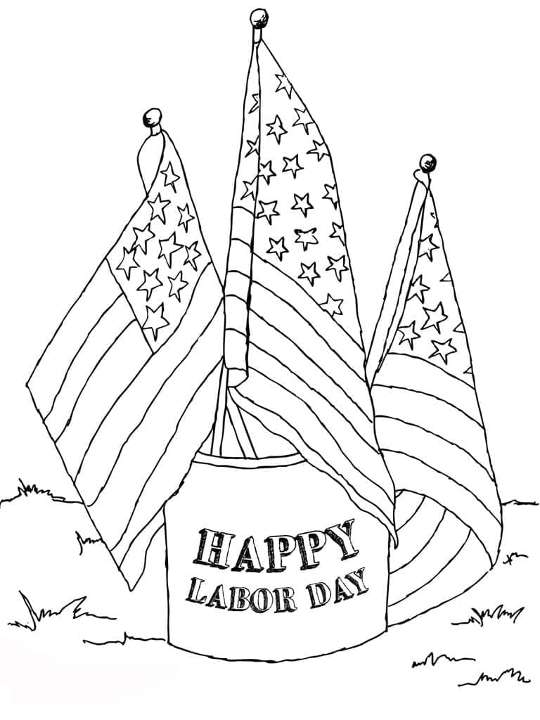 Happy Labor Day Coloring Sheets Printable