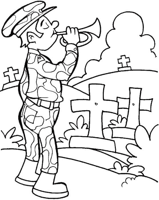 Happy Veterans Day Coloring Images
