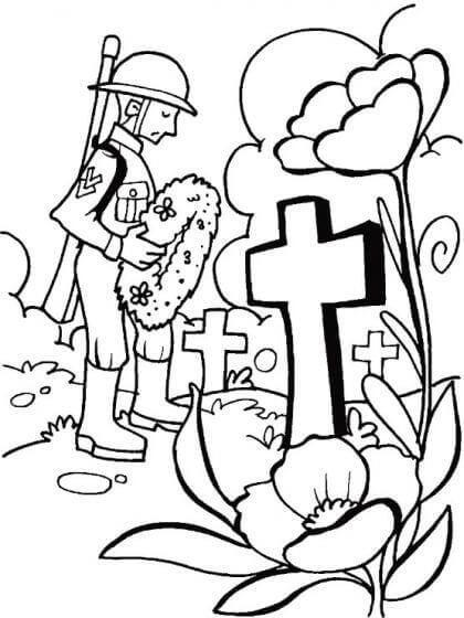 Happy Veterans Day Coloring Pages For Preschoolers