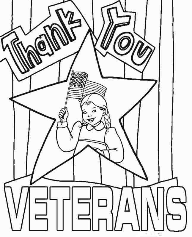 Happy Veterans Day Coloring Pages Free