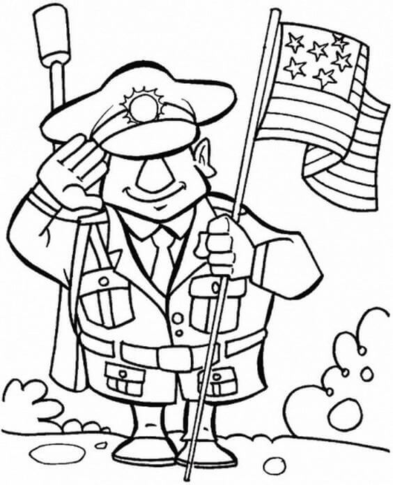 Happy Veterans Day Coloring Pages To Print