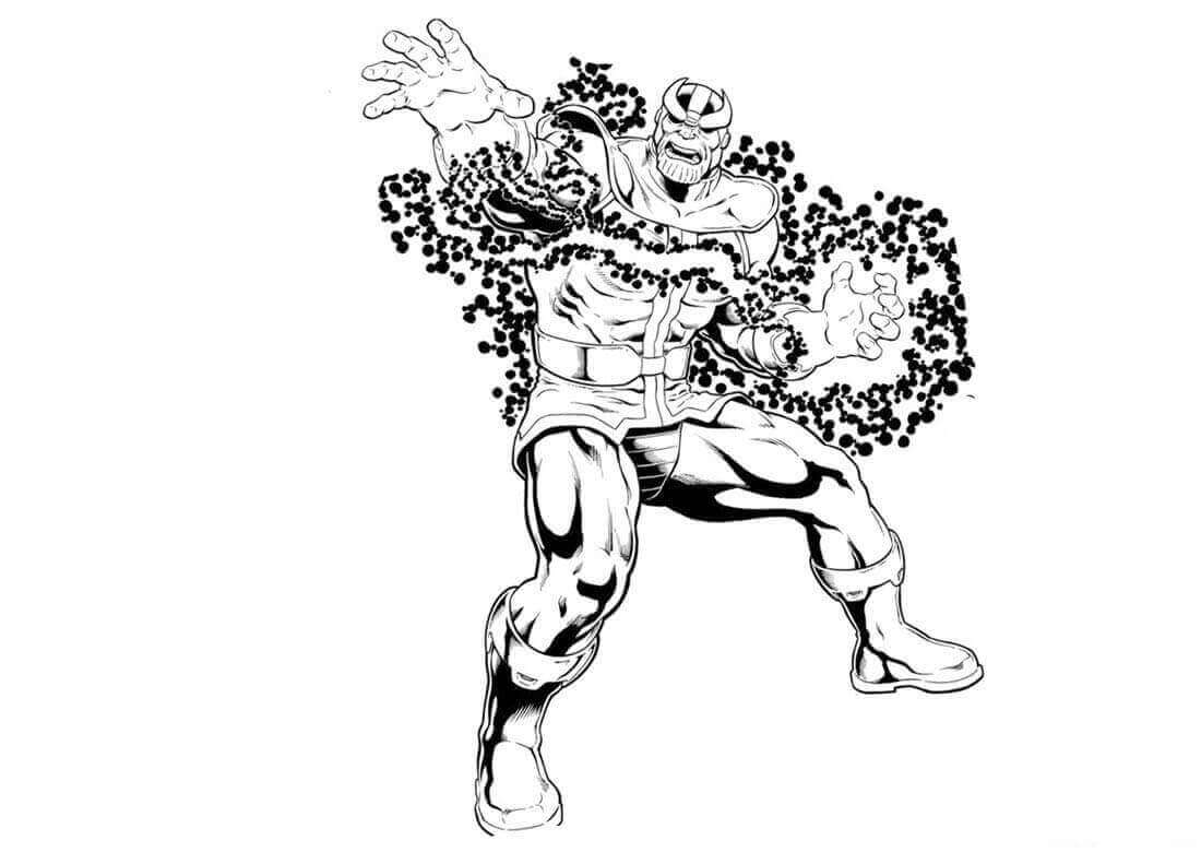 Infinity War Thanos Coloring Pages