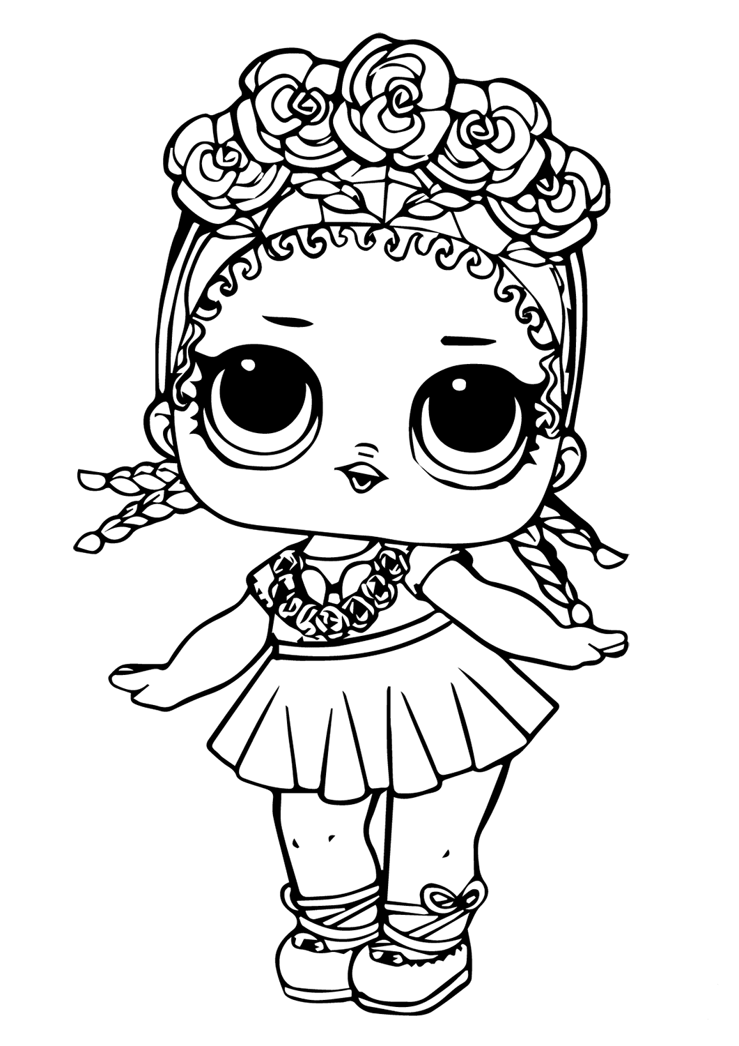 LOL Surprise Doll Coloring Sheets Coconut Q.T