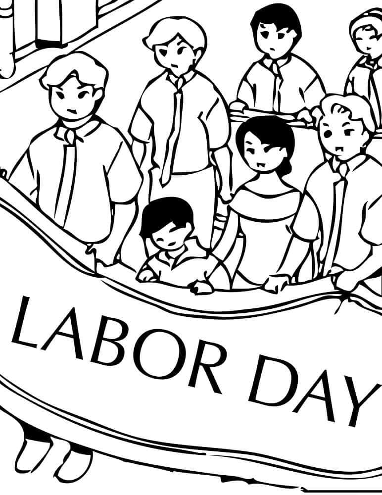 Labor Day March Coloring Page