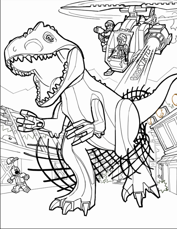Lego Jurassic World Coloring Page